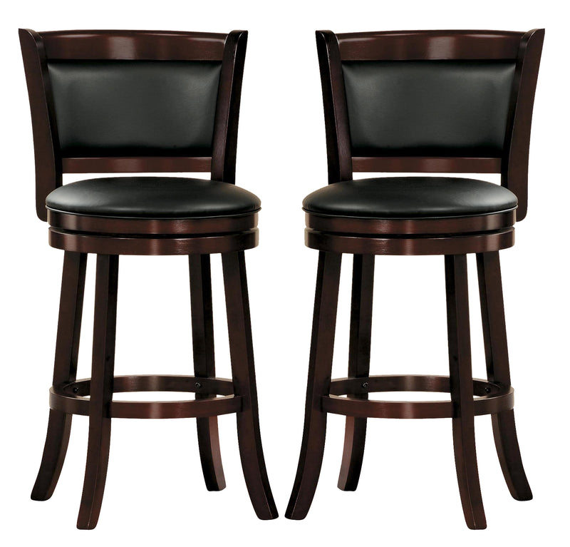 Homelegance Shapel Swivel Counter Height Chair in Cherry (set of 2) 1131-29S image
