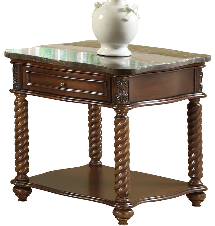 Homelegance Lockwood End Table in Brown Mahogany 5560-04 image
