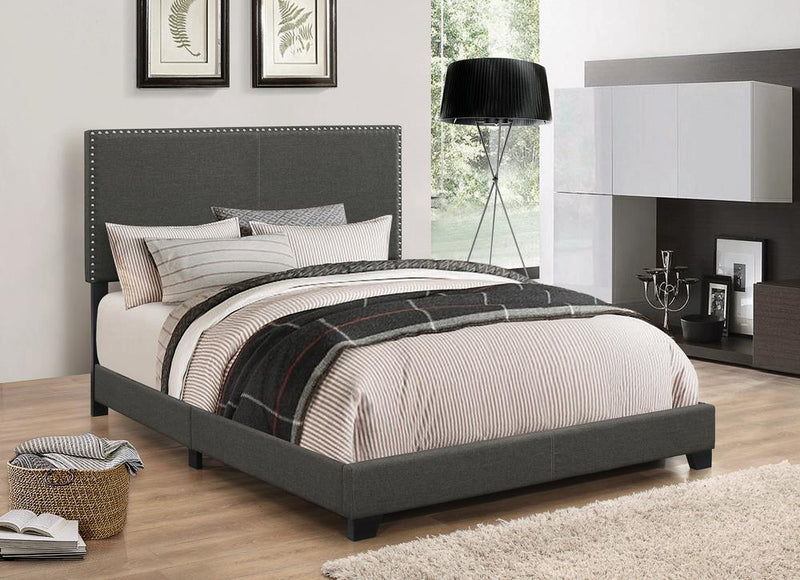 Boyd Upholstered Charcoal Twin Bed image