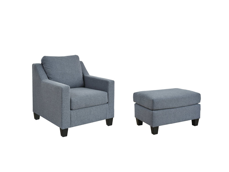 Lemly Benchcraft 2-Piece Chair & Ottoman Set
