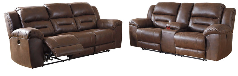 Stoneland Signature Design Contemporary Power Reclining 2-Piece Living Room Set
