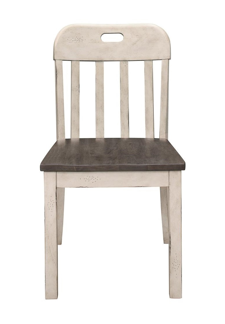 Homelegance Clover Side Chair in White & Gray (Set of 2) image