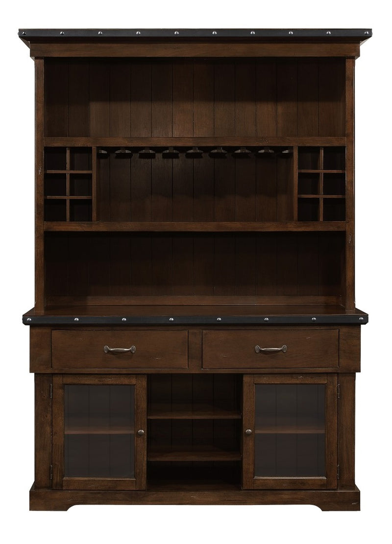 Homelegance Schleiger Buffet and Hutch in Dark Brown 5400-50* image
