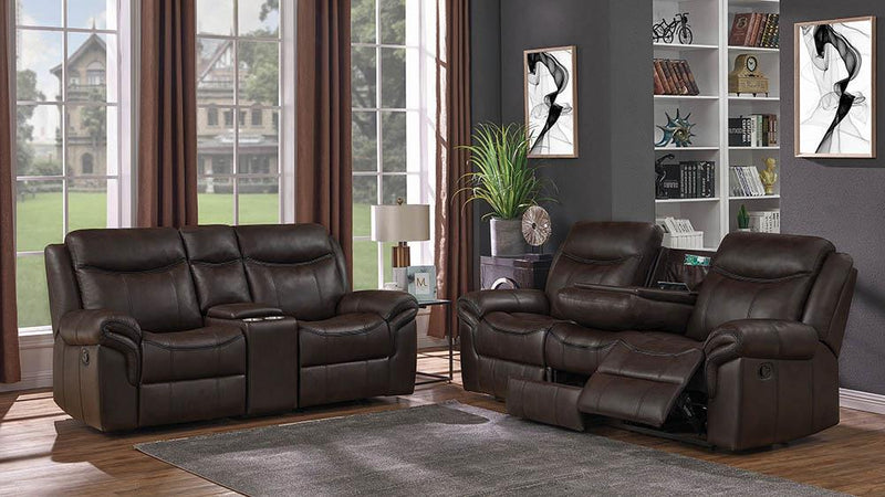 Sawyer Transitional Brown Two-Piece Living Room Set