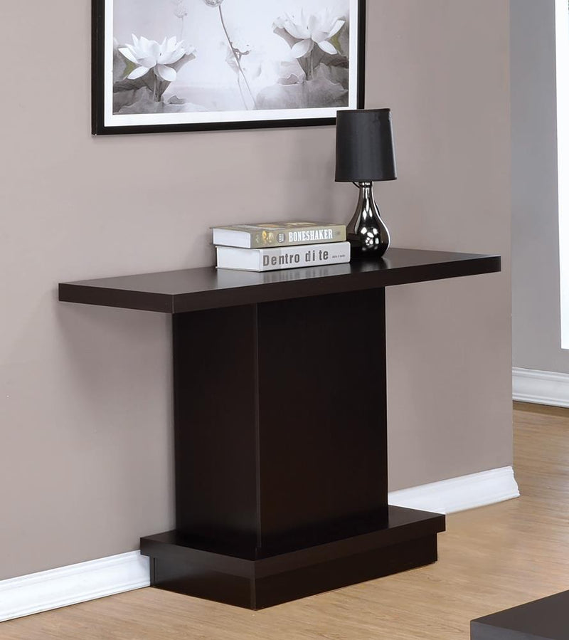 Cappuccino Wood Top Sofa Table image