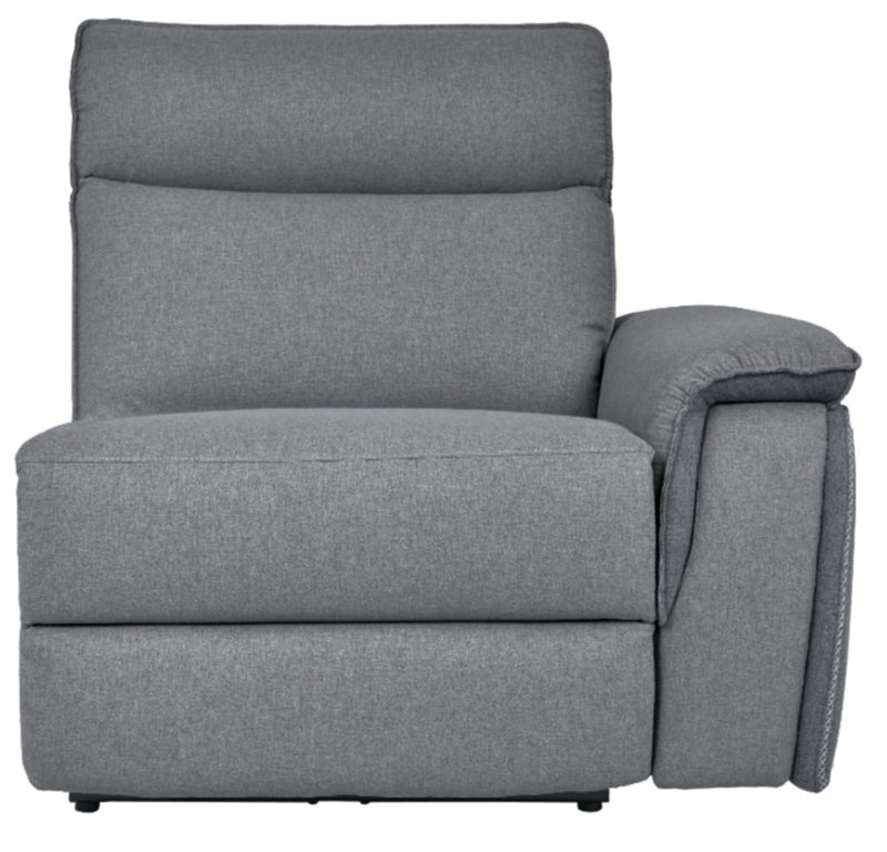 Homelegance Furniture Maroni Power RSF Reclining Chair with Power Headrest and USB Port in Dark Gray/Light Gray 8259-RRPWH image