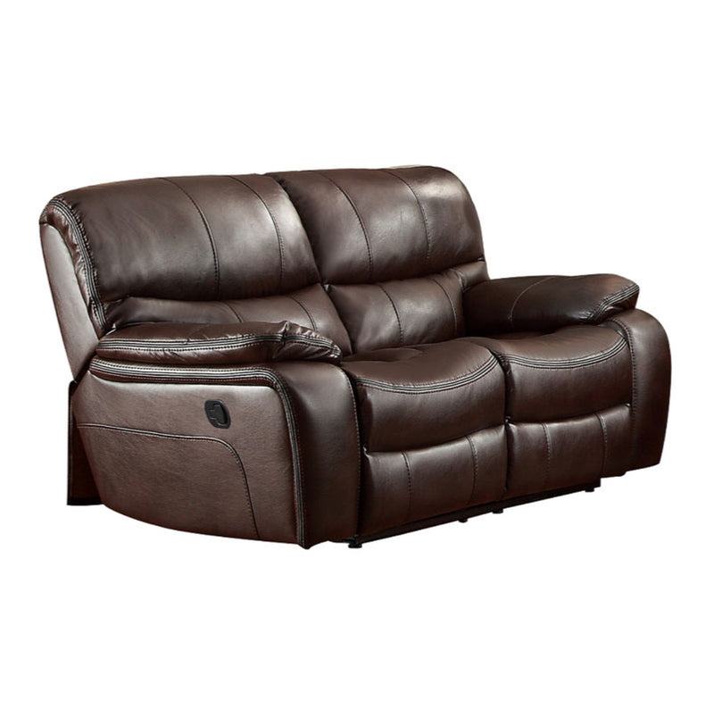 Homelegance Furniture Pecos Double Reclining Loveseat in Dark Brown 8480BRW-2 image