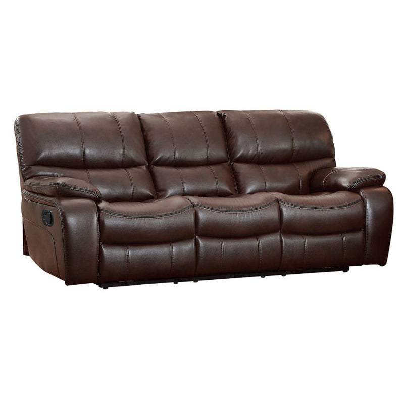 Homelegance Furniture Pecos Double Reclining Sofa in Dark Brown 8480BRW-3 image