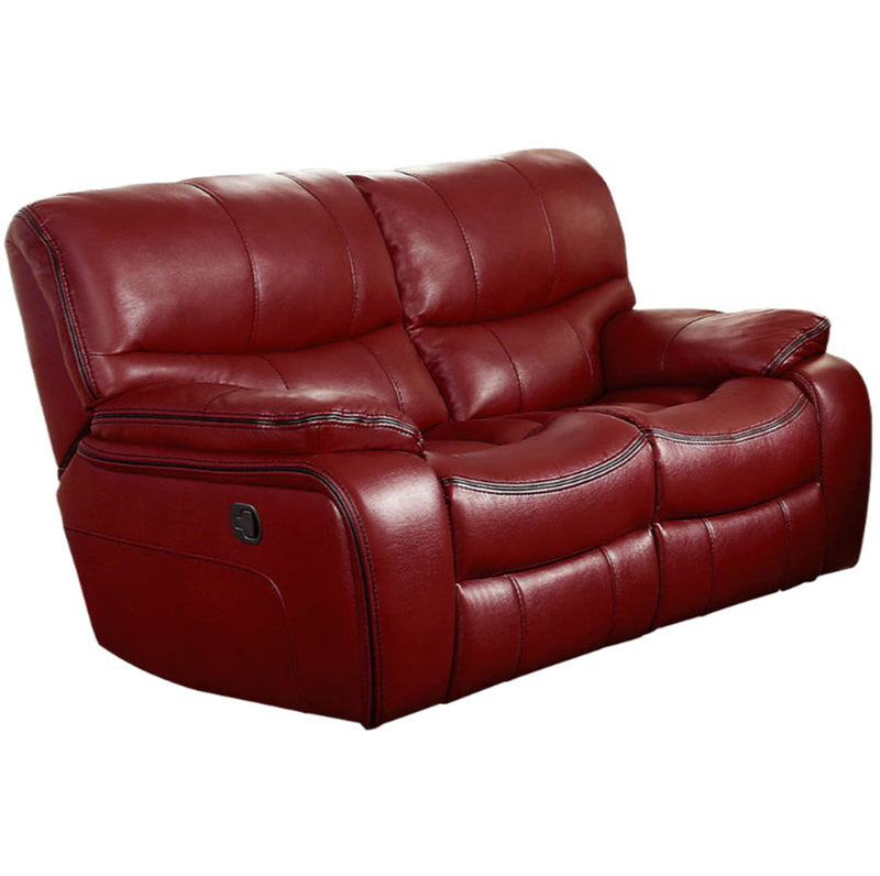 Homelegance Furniture Pecos Double Reclining Loveseat in Red 8480RED-2 image