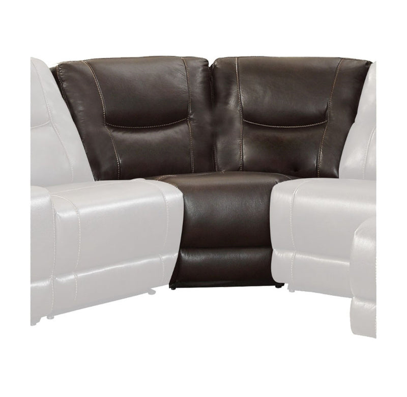 Homelegance Furniture Columbus Corner Seat in Dark Brown 8490-CR image