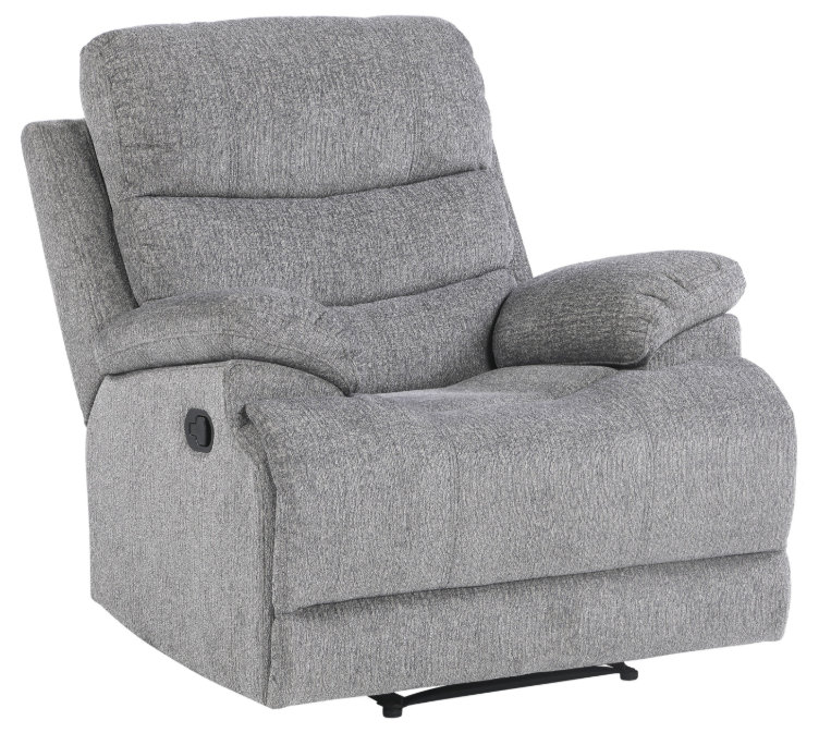 Homelegance Furniture Sherbrook Power Reclining Chair with Power Headrest and USB Port in Gray 9422FS-1PWH image