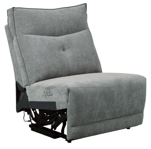 Homelegance Furniture Tesoro Armless Reclining Chair in Dark Gray 9509DG-AR image