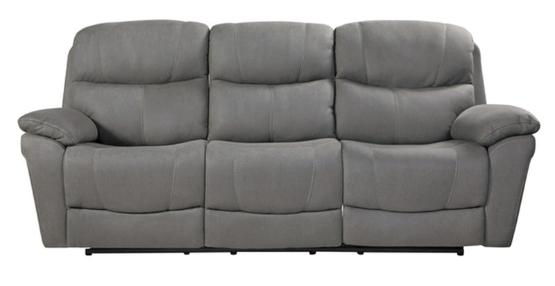 Homelegance Furniture Longvale Double Power Reclining Sofa in Gray 9580GY-3PWH image