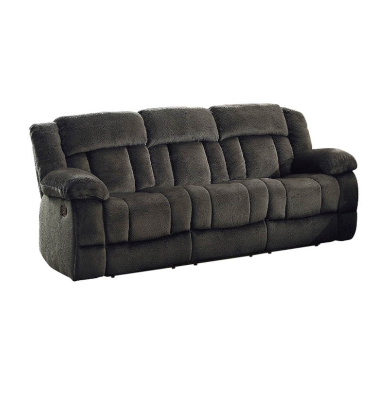 Homelegance Furniture Laurelton Double Reclining Sofa in Chocolate 9636-3 image