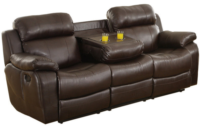 Homelegance Furniture Marille Double Reclining Sofa in Brown 9724BRW-3 image