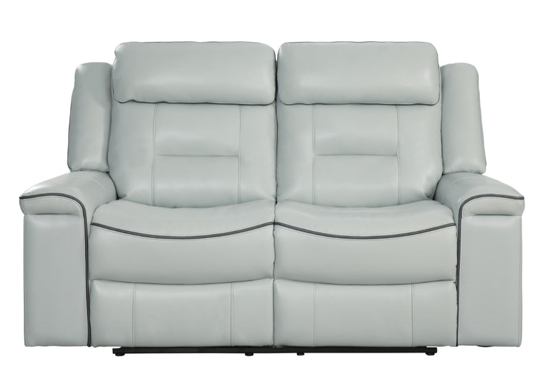 Homelegance Furniture Darwan Double Lay Flat Reclining Loveseat in Light Gray 9999GY-2 image