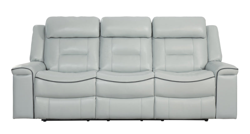 Homelegance Furniture Darwan Double Lay Flat Reclining Sofa in Light Gray 9999GY-3 image