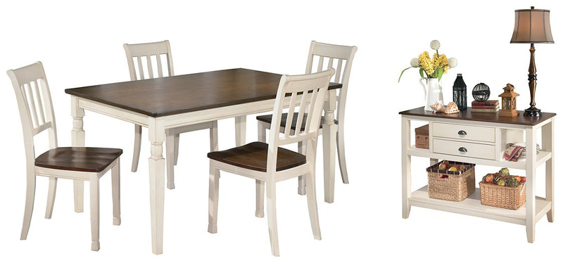 Whitesburg Signature Design 6-Piece Dining Room Package