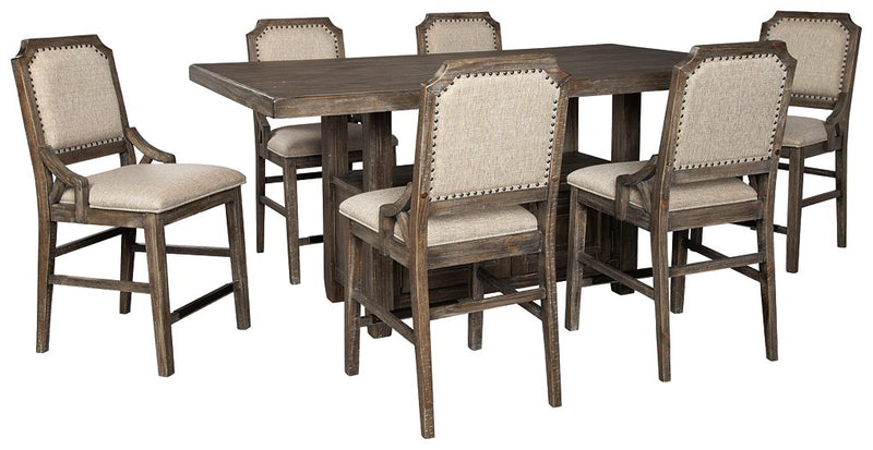 Wyndahl Signature Design 7-Piece Counter Height Dining Room Package