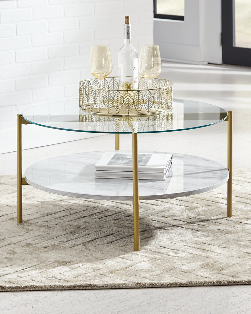 Wynora Signature Design by Ashley Round Cocktail Table