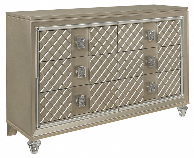 Homelegance Furniture Youth Loudon 6 Drawer Dresser in Champagne Metallic B1515-5 image