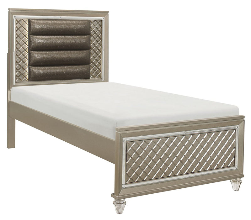 Homelegance Furniture Youth Loudon Twin Platform Bed in Champagne Metallic B1515T-1* image