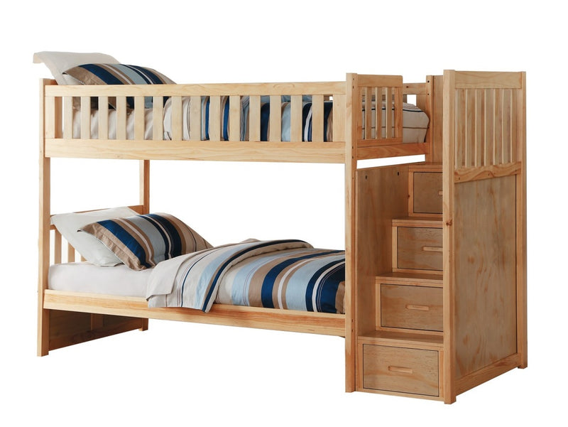 Homelegance Bartly Bunk Bed w/ Reversible Storage in Natural B2043SB-1* image