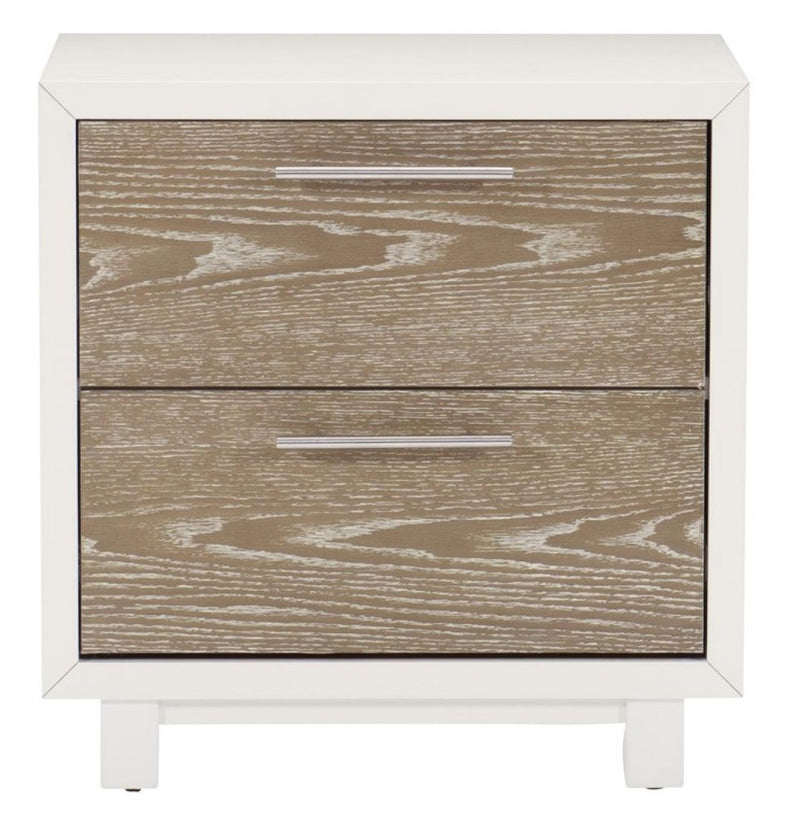 Homelegance Renly 2 Drawer Nightstand in Natural & White 2056-4 image