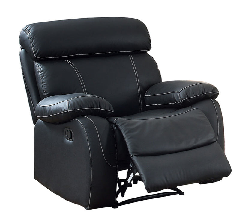 Homelegance Furniture Pendu Reclining Chair in Black 8326BLK-1 image