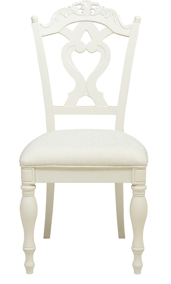 Homelegance Cinderella Desk Chair in Ecru White 1386-11C image