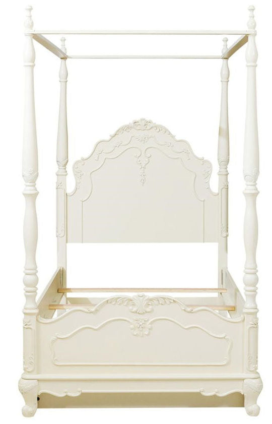 Homelegance Cinderella Full Canopy Poster Bed in Ecru White 1386FPP-1* image