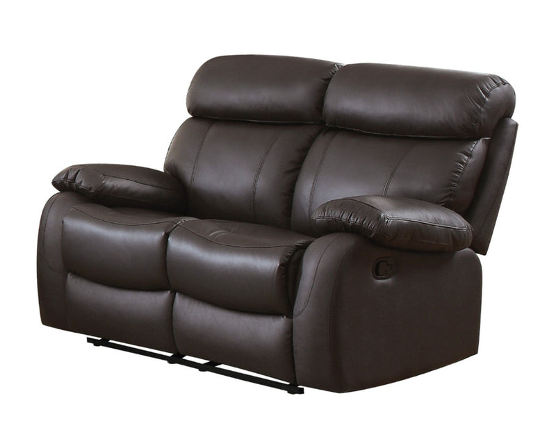 Homelegance Furniture Pendu Double Reclining Loveseat in Brown 8326BRW-2 image