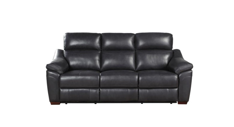 Homelegance Furniture Renzo Power Double Reclining Sofa in Dark Gray 9805DG-3PW image