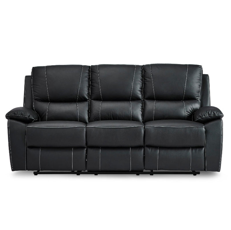 Homelegance Furniture Greeley Double Reclining Sofa in Black 8325BLK-3 image
