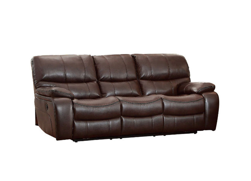 Homelegance Furniture Pecos Power Double Reclining Sofa in Dark Brown 8480BRW-3PW image