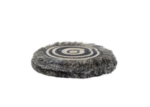 Sweet Grass Fringe Coaster Set of 4 - Grey - Earthnic Lifestyle