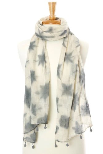Organic Cotton Star Scarf from Mali - Earthnic Lifestyle
