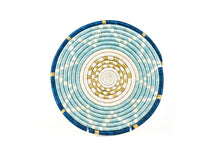 Load image into Gallery viewer, Sisal Grass Trivet - Small Silver Blue - Earthnic Lifestyle