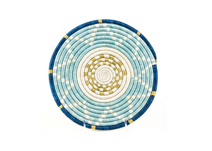 Sisal Grass Trivet - Small Silver Blue - Earthnic Lifestyle
