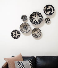 "Load image into Gallery viewer, Sisal Trivet - Hope Design Black and White 10"" - Earthnic Lifestyle"
