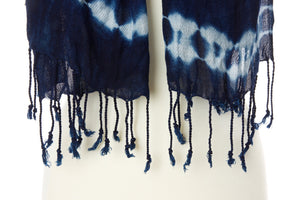Indigo Cotton Shawl from Burkina Faso - Earthnic Lifestyle