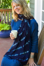 Load image into Gallery viewer, Indigo Cotton Shawl from Burkina Faso - Earthnic Lifestyle
