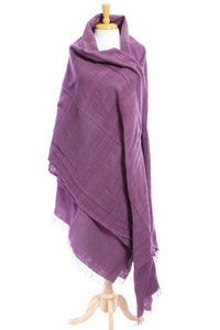 Organic Cotton Ethiopian Gabi Body Shawl - Plum - Earthnic Lifestyle