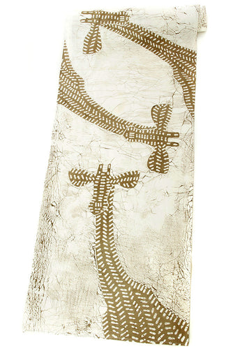 Zambian Hand Painted Dry Season Giraffe Table Runner - Earthnic Lifestyle