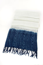 Load image into Gallery viewer, Artisan Handmade Organic Cotton Open Weave Scarf  - Mudcloth Indigo - Earthnic Lifestyle