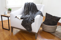 Load image into Gallery viewer, Black Segou Squares Organic Cotton Cushion - Earthnic Lifestyle