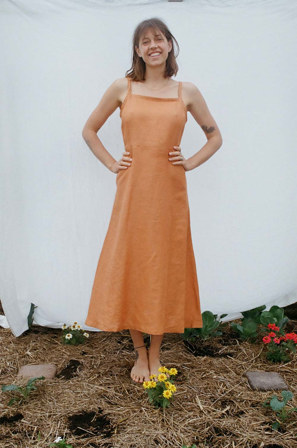 Floss Dress - Orange - Dot and Frankie