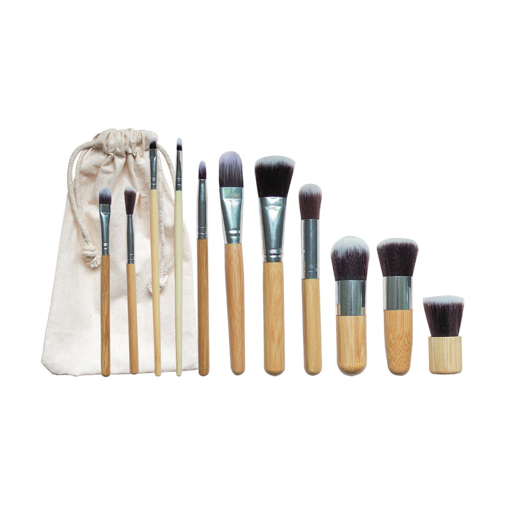 Bamboo Vegan Makeup Brush Set - Dot and Frankie