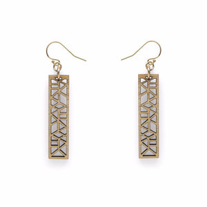Geo rectangle drop earrings - Dot and Frankie