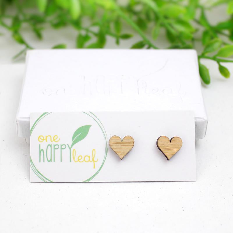 Love heart studs - Dot and Frankie